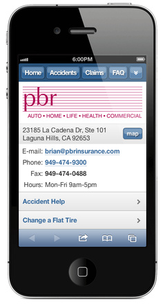 m.pbrinsurance.com website preview